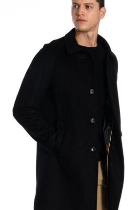 İgs Erkek Siyah Modern Fit Palto 1