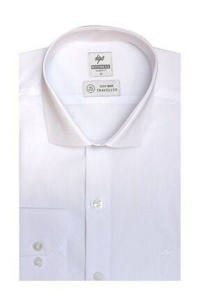 İgs Erkek Beyaz Slım Fıt Dar Kalıp Std Gömlek 0