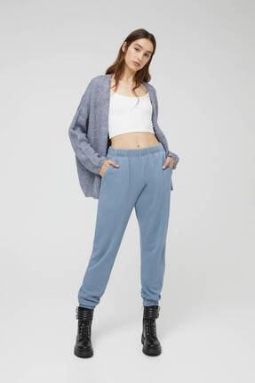 Pull & Bear Kadın  Mavi Soluk Efektli Jogging Fit Pantolon 0