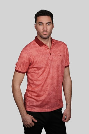İgs Erkek Somon Modern Fit Polo Yaka T-shirt 1