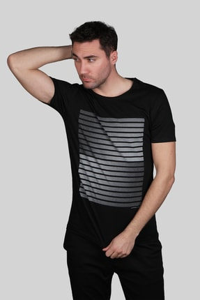 İgs Erkek Siyah Slim Fit T-shirt 1