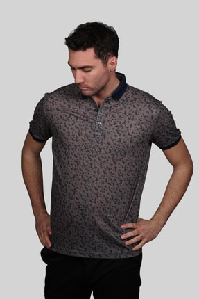 İgs Erkek Açık Kahve Modern Fit Polo Yaka T-shirt 0