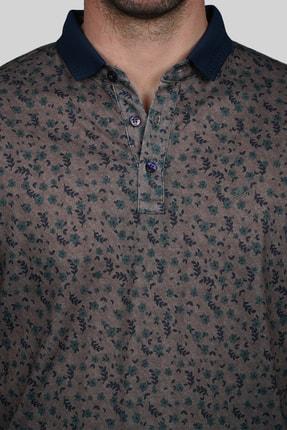 İgs Erkek Açık Kahve Modern Fit Polo Yaka T-shirt 3