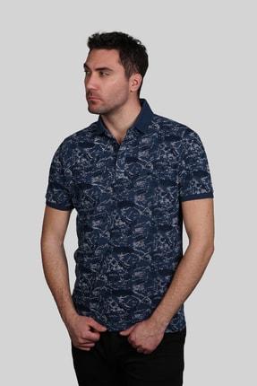 İgs Erkek Marin Modern Fit Polo Yaka T-shirt 0