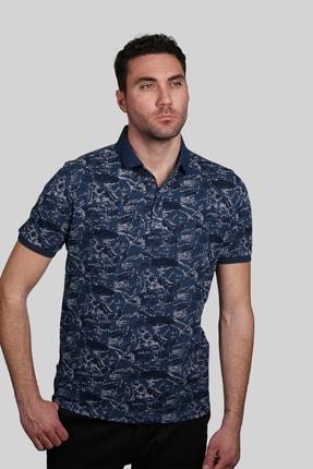 İgs Erkek Marin Modern Fit Polo Yaka T-shirt 1