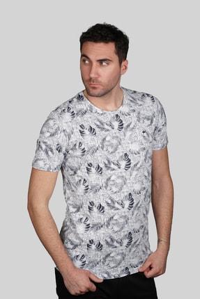 İgs Erkek Beyaz Slim Fit Tişört 1
