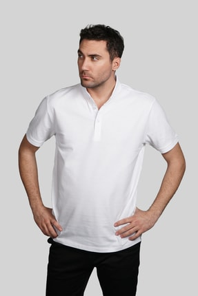 İgs Erkek Beyaz Slim Fit Polo Yaka T-shirt 0