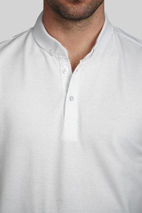 İgs Erkek Beyaz Slim Fit Polo Yaka T-shirt 3