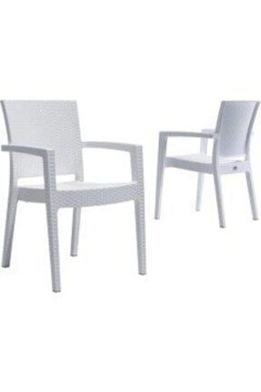 Wertty Werty Home 6 Sandalye 6 Minder 80*140 Camlı Rattan Masa Takımı 2