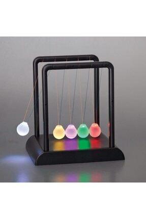 MOS'EV Newton's Cradle Light Up Mavi Işıklı Newton Topları 0
