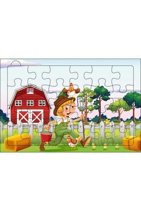 Redro Home 5'li Ahşap Puzzle Set 24 Parça Çiftlik 1