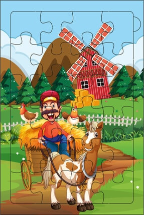 Redro Home 5'li Ahşap Puzzle Set 24 Parça Çiftlik 4