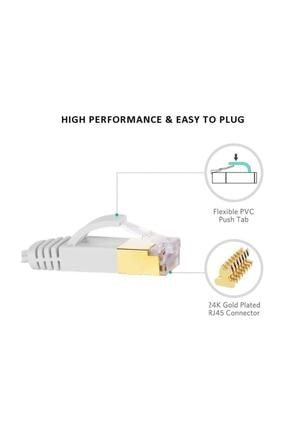 Alfais 4262 Cat7 Ethernet Rj45 Modem Internet Kablosu 10 Metre 10gbps 600mhz 1