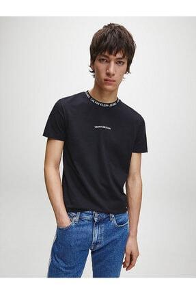 Calvin Klein Erkek Siyah Kısa Kollu Örme Tshirt 0