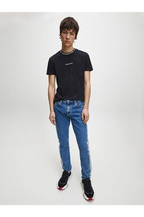 Calvin Klein Erkek Siyah Kısa Kollu Örme Tshirt 1