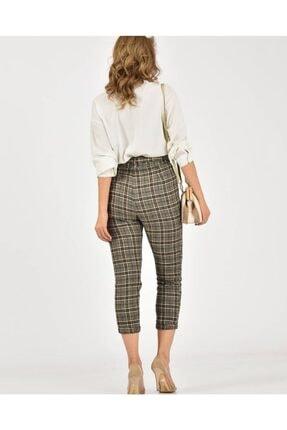 Çarşım Mağazaları Kadın  Ekose Balıksırtı Pantolon 1