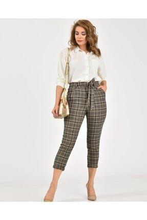 Çarşım Mağazaları Kadın  Ekose Balıksırtı Pantolon 3