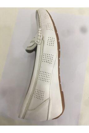 Ceyo Kadın Anatomik Ayakkabı Beyaz 2