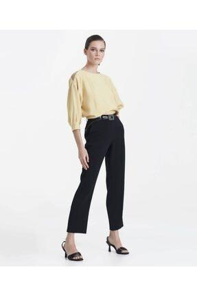İpekyol Kadın Siyah Paça Yırtmaçlı Pantolon 2