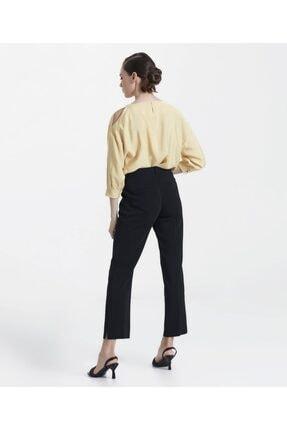 İpekyol Kadın Siyah Paça Yırtmaçlı Pantolon 3