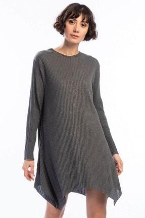 Cotton Mood Kadın Füme Kalın Fitilli Uzun Kol Çan Tunik 9361104 1