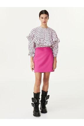 Twist Kadın Pembe Crop Bluz 2