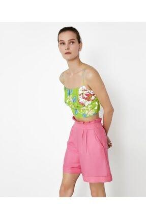 İpekyol Kadın Yeşil Çiçek Desen Büstiyer 0
