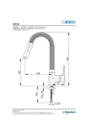 Eca Delta Endüstriyel Mutfak Evye Eviye Bataryası 102108703 20 Yıl Garantili E.c.a. 2