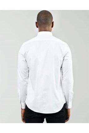 Tudors Erkek Beyaz Slim Fit Yaka İğneli Gömlek 2