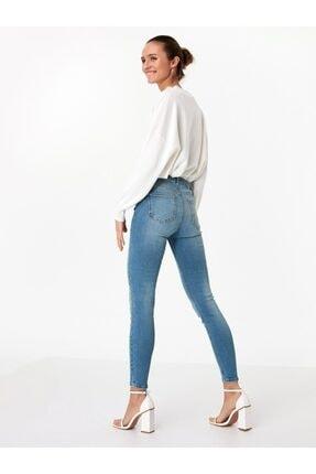 Twist Kadın Beyaz İnce Bantlı Topuklu Ayakkabı 3