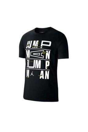 Nike Erkek Siyah Jordan Dect Jumpman Ss Crew T-shirt Cj6302-010 1