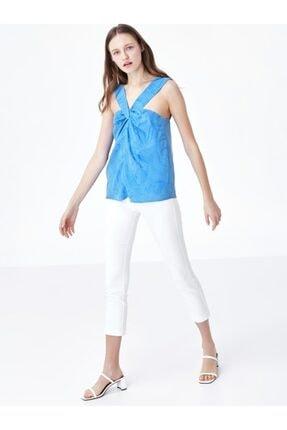 Twist Kadın Mavi Yaka Detaylı Bluz 1