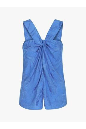 Twist Kadın Mavi Yaka Detaylı Bluz 4
