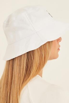 Y-London 13373 Ny Nakışlı Beyaz Bucket Şapka 2