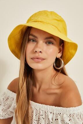 Y-London 13372 Sarı Bucket Şapka 0