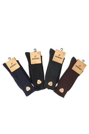 Mısırlı 3'lü Lambswool Dikişsiz Düz Kışlık Kalın Erkek Çorap 1