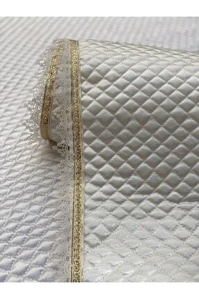 Kaizen Carpet Krem 60cmx10mt Rulo Gold Su Taşı Detaylı Deri Saten Lüks Kapitone Raf Çekmece Örtüsü-derinlik 60 Cm 3
