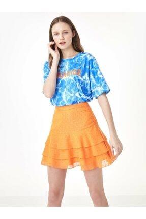Twist Kadın Mavi Taş Şeritli Tshirt TS1200070159089 0