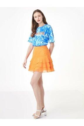 Twist Kadın Mavi Taş Şeritli Tshirt TS1200070159089 3