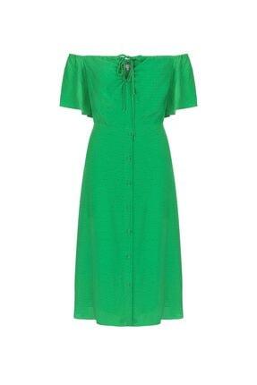 İpekyol Kadın Yeşil Puantiye Desen Elbise IS1200002421070 3