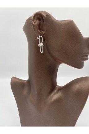 Markiz Takı Kadın Gümüş Ufak Tiffany Küpe 3 cm 1