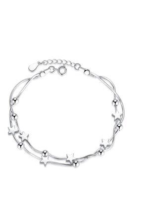 Adal Silver Kadın 925 Ayar Gümüş Ikili Yıldızlı Bileklik 0
