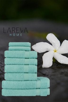 Lareva Home Turkuaz Yumuşak Ev Banyo Havlu Seti 1