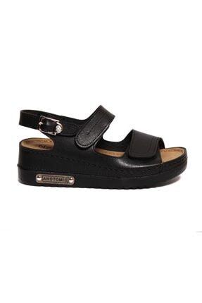 ROYJONES Kadın Siyah Anotomık/ortopedik Sandalet Terlik 3014 0