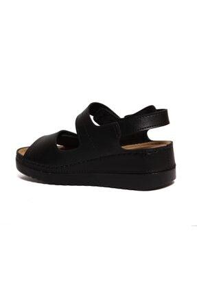 ROYJONES Kadın Siyah Anotomık/ortopedik Sandalet Terlik 3014 1