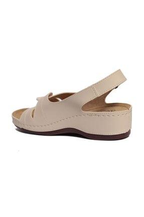 ROYJONES Kadın Bej Anotomık/ortopedik Sandalet Terlik 1817 1
