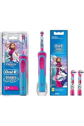 Oral-B Stages Power Frozen + Frozen 2'li Yedek Başlıklı Şarjlı Çocuk Diş Fırçası 0