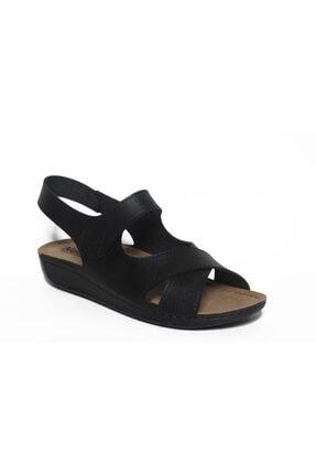 ROYJONES Kadın Siyah Anotomık/ortopedik Sandalet Terlik 515 0