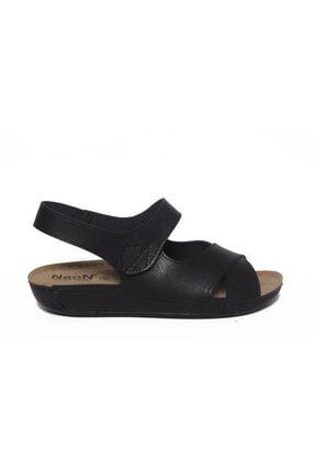 ROYJONES Kadın Siyah Anotomık/ortopedik Sandalet Terlik 515 1