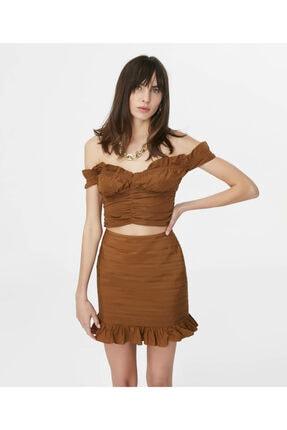 İpekyol Kadın Kahverengi Fırfır Şeritli Büstiyer 2